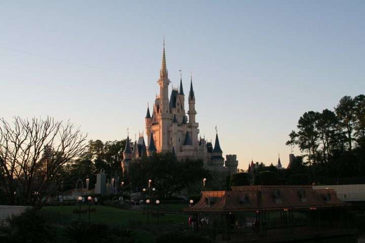 The castle in the Magic Kingdom at Walt Disney World in Florida is much much bigger and more majestic than it's miniature sister in California!